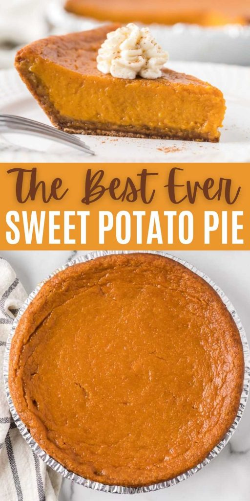Learn how to make a classic southern sweet potato pie! You won't believe how easy this pie recipe is to make! Simple and easy, old-fashioned Thanksgiving sweet potato pie from scratch! This is one of my favorite Thanksgiving dessert recipes. #eatingonadime #pierecipes #thanksgivingdesserts #sweetpotatorecipes #holidaydesserts