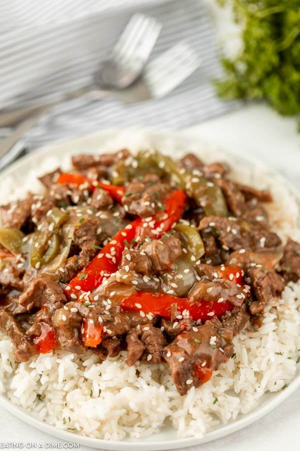 You don't need take out with this easy Instant Pot Pepper Steak. This pepper steak recipe is bursting with flavor and so simple.