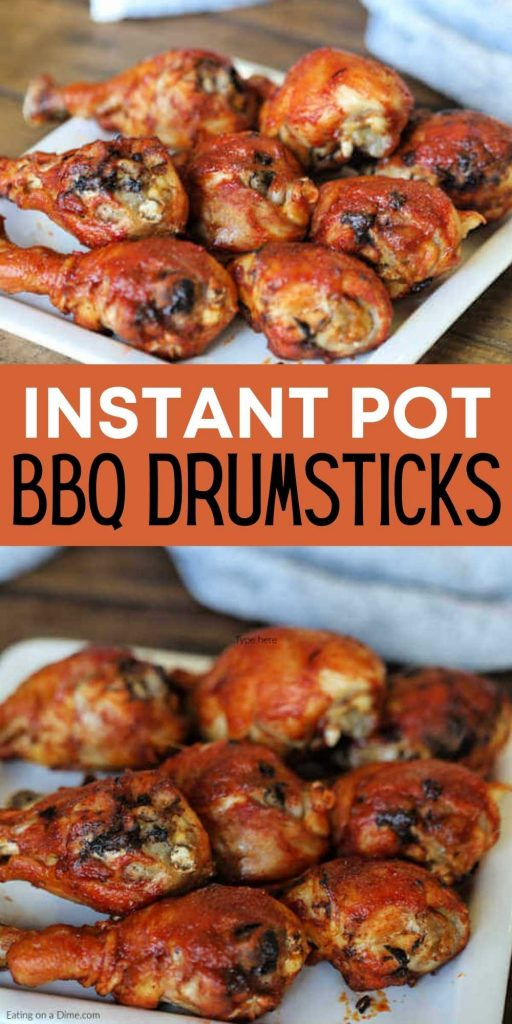 Get dinner on the table fast with this easyInstant Pot BBQ Chicken Drumsticks recipe. With just a few ingredients, your family can enjoy drumsticks in minutes. This pressure cooker barbecue chicken legs can be made from fresh or frozen frozen in no time at all!  #eatingonadime #instantpotrecipes #pressurecookerrecipes #chickenlegs #drumsticks